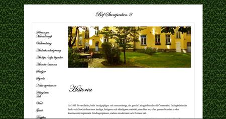 Bostadsrättsföreningens hemsida före uppdraget