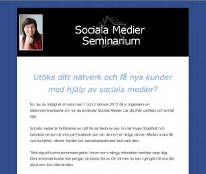 Lär dig mer om Sociala medier genom att vara med på telefonseminariumet Bli en facebooksuperstar
